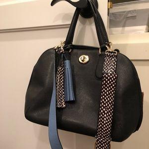 black coach turn-lock purse